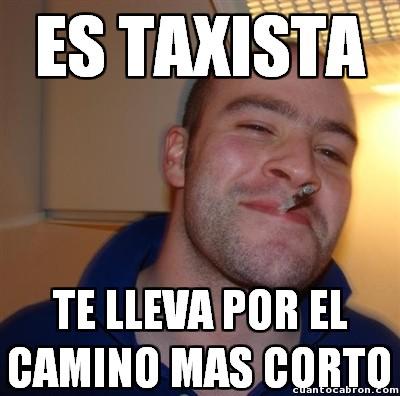 memes de taxistas - camino mas corto