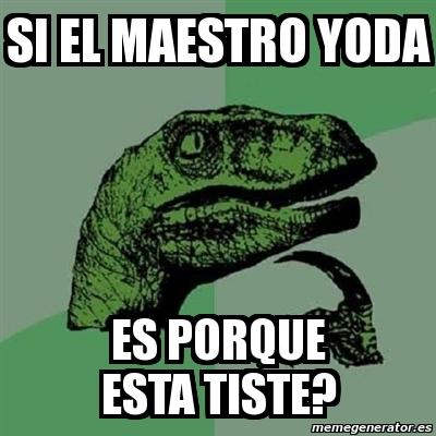 memes de yoda - chiste dinosaurio