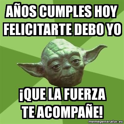 memes de yoda - cumpleaños