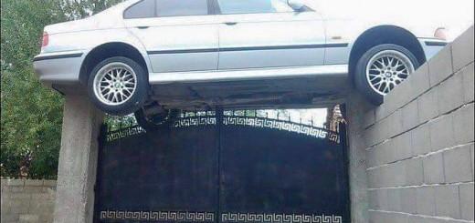 imagenes raras y graciosas a la ves - como llego ese carro ahi