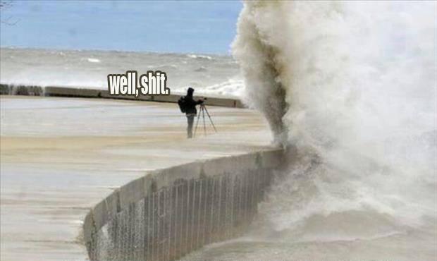 imagenes raras y graciosas a la ves - ola gigante