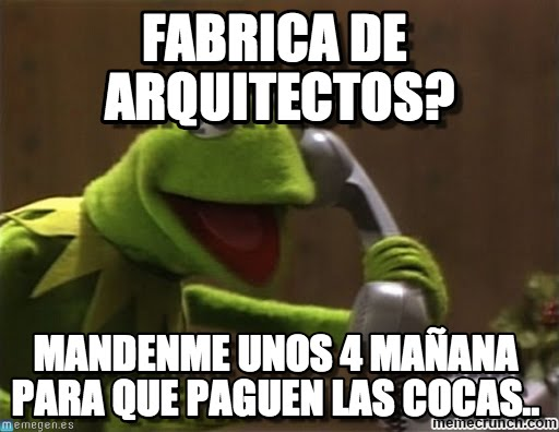 memes de arquitecto - rana rene