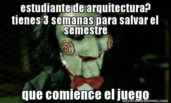 memes de arquitecto - salvar el semestre