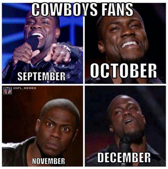memes de vaqueros - cowboys fans por mes