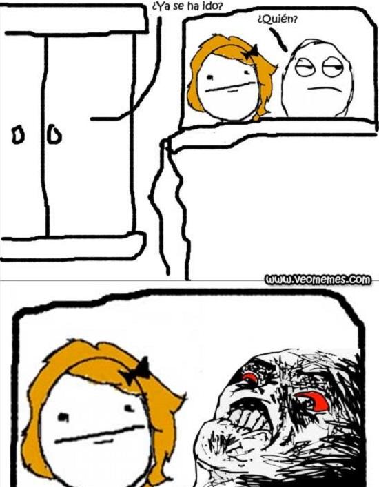 memes de infidelidad - amante en el closet
