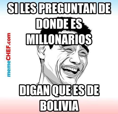 memes de millonarios - bolivia
