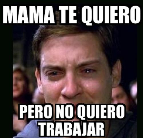 memes de no quiero trabajar - mama