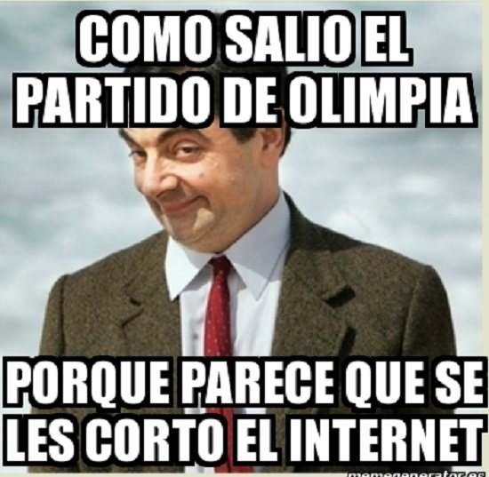 memes del olimpia - como salio el partido