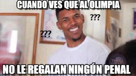 memes del olimpia - no hay penal hoy