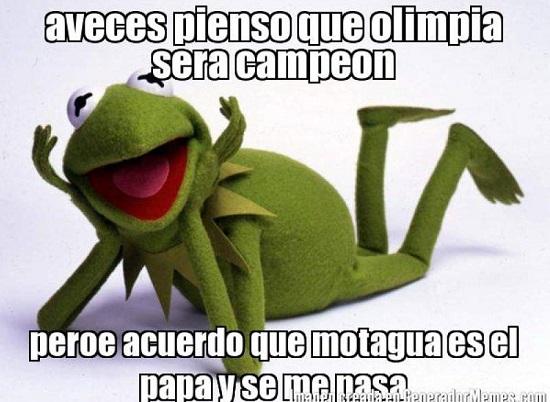 memes del olimpia - rana rene