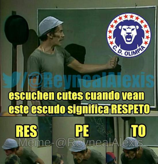 memes del olimpia - respeto