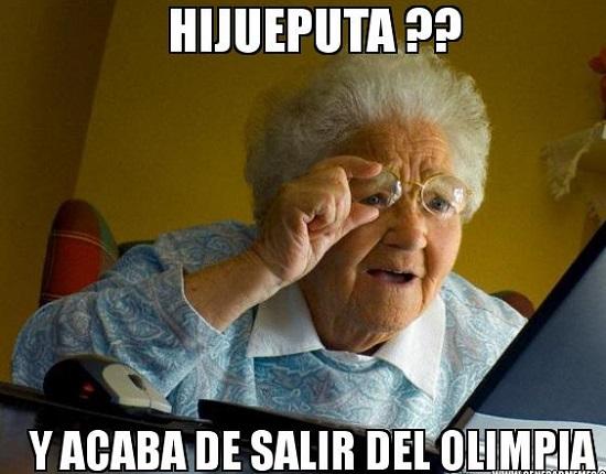 memes del olimpia - viejita