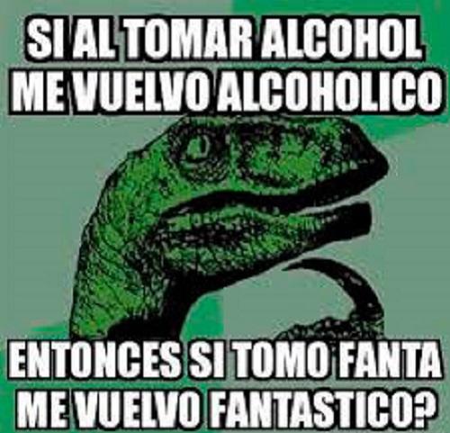 Memes de Filosoraptor - alcohol