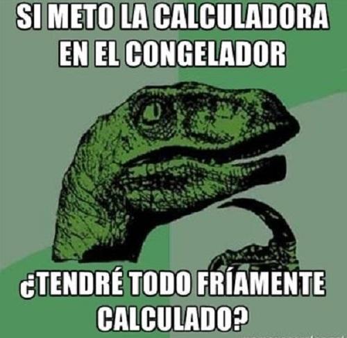 Memes de Filosoraptor - calculadora