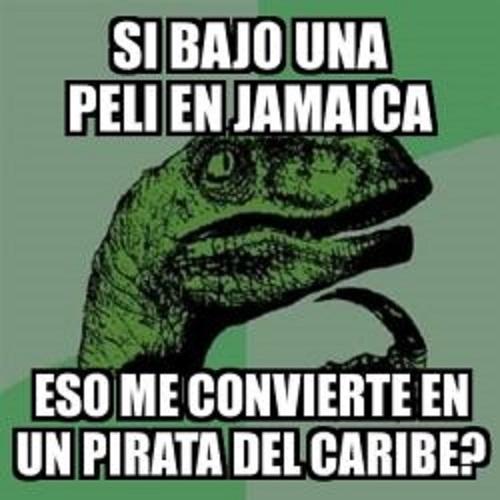 Memes de Filosoraptor - pitatas del caribe