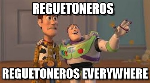 Memes de reguetoneros - everywhere