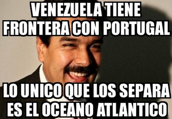 memes de maduro - frontera con portugal