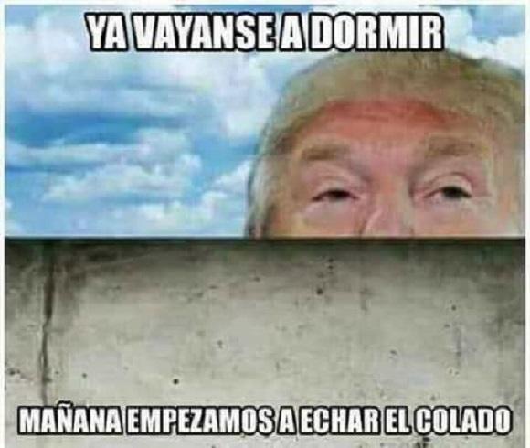 memes del muro - trump