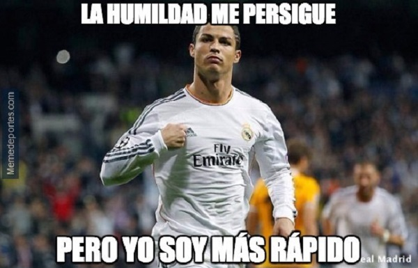 memes del real madrid - la humildad me persigue